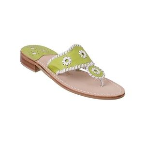 Jack Rogers Lime Palm Beach Thing Sandals 8